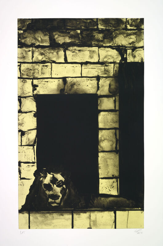 Peter Doig, 'Untitled (Yellow Lion)', 2016, Print, Etching with gravure, spitbite, hardground, sugarlift and silkscreen, Two Palms