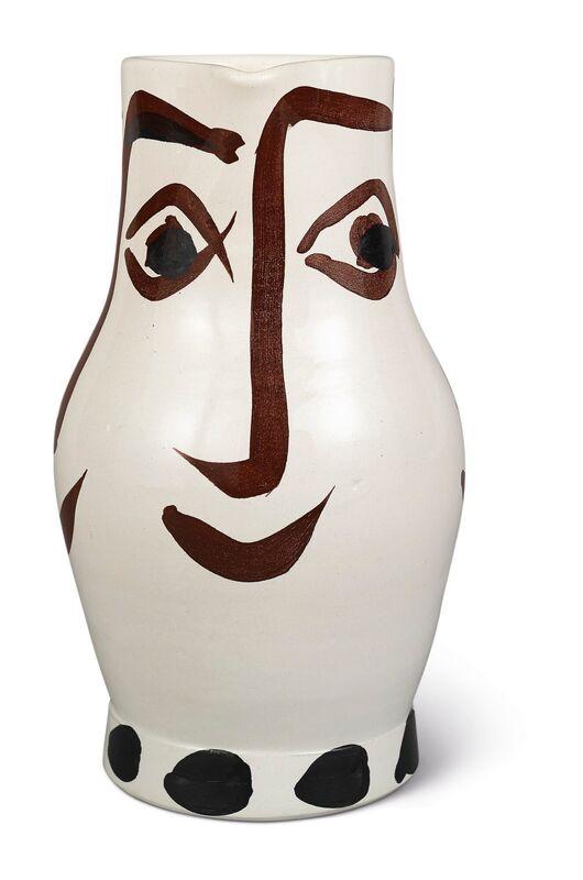 Pablo Picasso, 'Madoura Ceramic Pitcher- QUATRE VISAGES, Ramié 436', 1950-1959, Sculpture, Ceramic, Earthenware, Hirth Fine Art