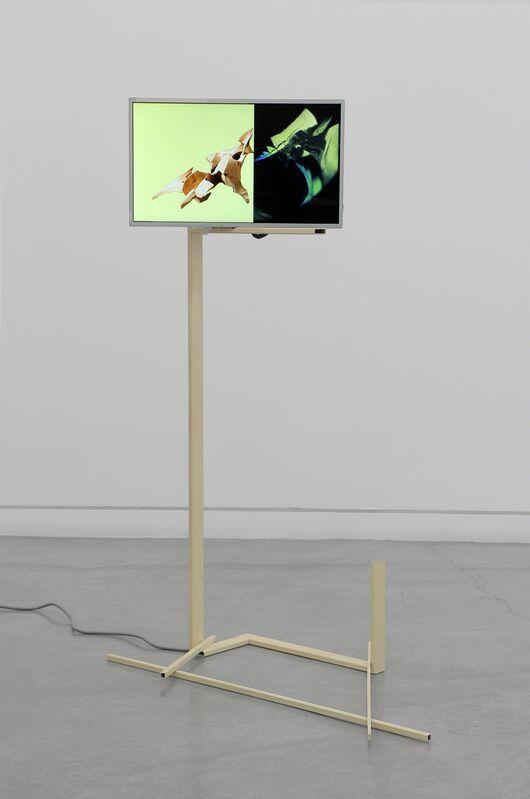 Nate Boyce, 'Untitled', 2013, Sculpture, Steel, acrylic, HD video, electronics, Altman Siegel