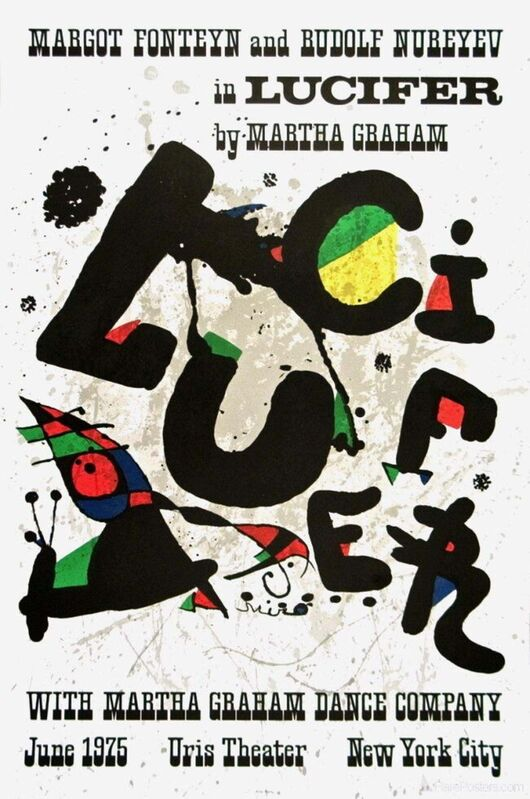 Joan Miró, 'Lucifer, 1975 Martha Graham Dance Company Exhibition Poster', 1975, Posters, Lithograph on wove paper, Art Commerce