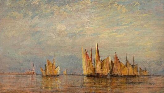 William Gedney Bunce, 'Venetian Sails', 1886