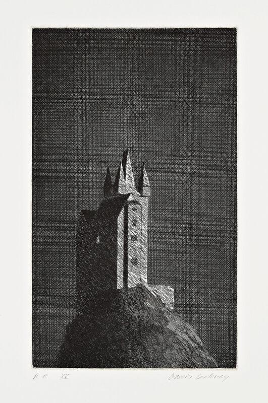 David Hockney, 'The Haunted Castle', 1969, Print, Etching, Gerrish Fine Art