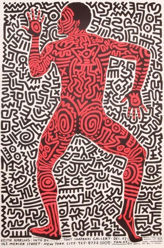 """Keith Haring, '""""Into 84"""" Shafrazi poster', 1984, Posters, Lithograph, Gallery 52"""