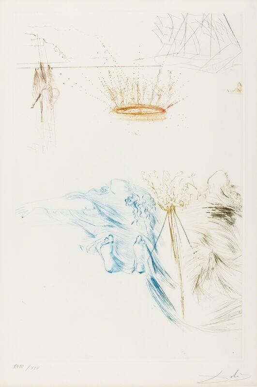 Salvador Dalí, 'Les Chevaliers du Roi Artur (from Tristan et Iseult) (M&L 426b; Field 70-10-U)', 1970, Print, Etching printed in colours, Forum Auctions