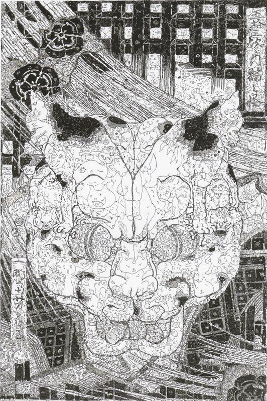 Keita Sagaki, 'Flea Waltz', 2014, Drawing, Collage or other Work on Paper, India ink on paper, Micheko Galerie