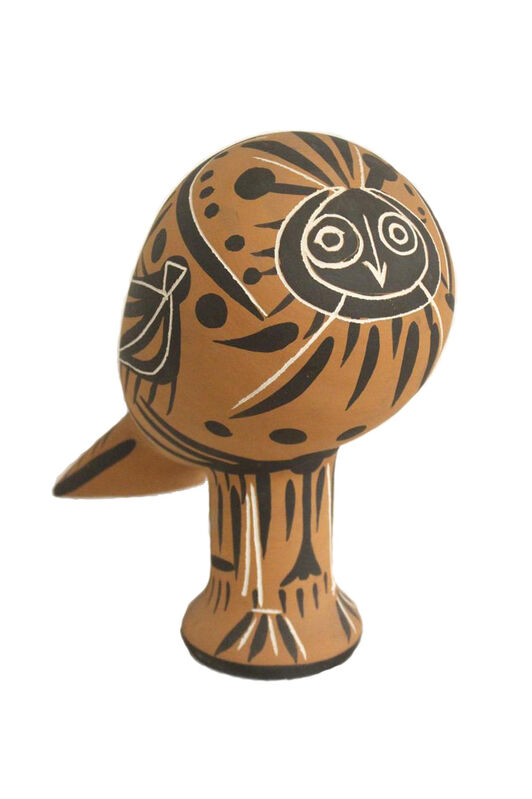 Pablo Picasso, 'Hibou', 1953, Sculpture, Earth of white earthenware with red and black polychrome engobes, BAILLY GALLERY