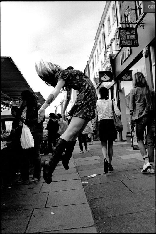 Nicola Bensley, 'Leap, Portobello Rd, London', 2016, Photography, Silver Gelatin Fibre Print, Mounted and Signed, Candida Stevens Gallery
