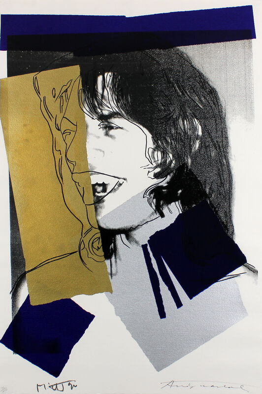 Andy Warhol, 'Mick Jagger (FS II.142)', 1975, Print, Screenprint on Arches Aquarelle (rough) Paper, Gormleys Fine Art