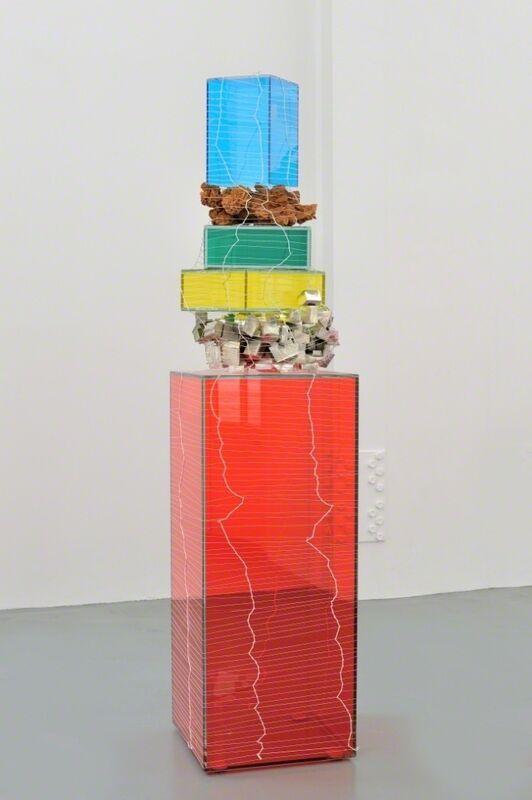 Gary Webb, 'Eye Ball Story', 2014, Sculpture, Glass, aluminum, sand rose, strings, colored films, Galerie Mitterrand