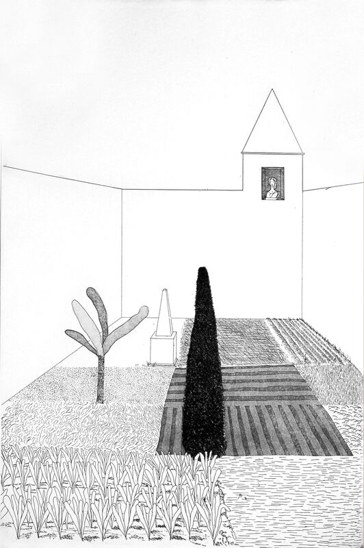 David Hockney, 'Rapunzel Growing in the Garden (from Six Fairy Tales from the Brothers Grimm)', 1969, Print, Etching and aquatint, Artsy x Capsule Auctions