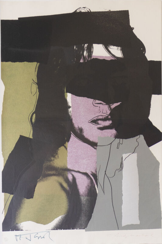 Andy Warhol, 'Mick Jagger (FS II.45)', 1975, Print, Screenprint on Arches Aquarelle (Cold Pressed) paper., Revolver Gallery