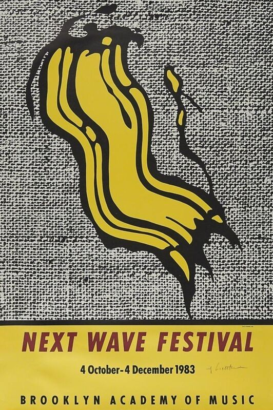 Roy Lichtenstein, 'Next Wave Festival', 1983, Posters, Offset lithograph in colours on paper, Tate Ward Auctions