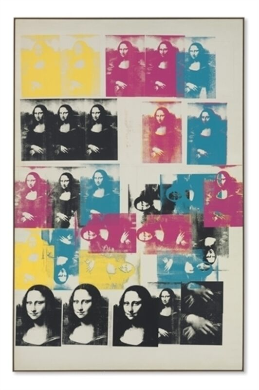 Andy Warhol, 'Colored Mona Lisa', Silkscreen inks and graphite on canvas, Christie's