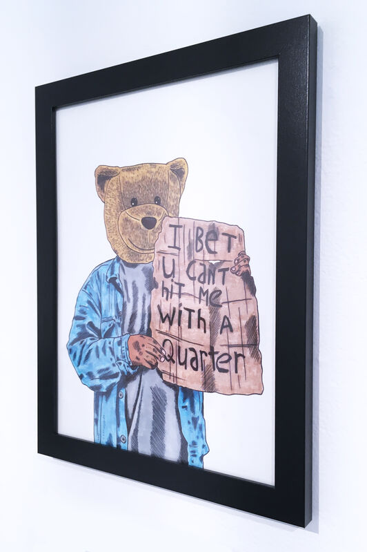 Sean 9 Lugo, 'Bet You Can't Hit Me With A Quarter', 2019, Drawing, Collage or other Work on Paper, Marker and ink on Bristol paper, framed, Deep Space Gallery