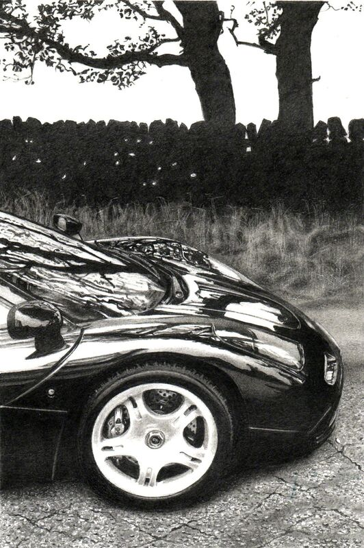 Roger Watt, 'McLaren F1', Drawing, Collage or other Work on Paper, Graphite on Bristol board, Plus One Gallery