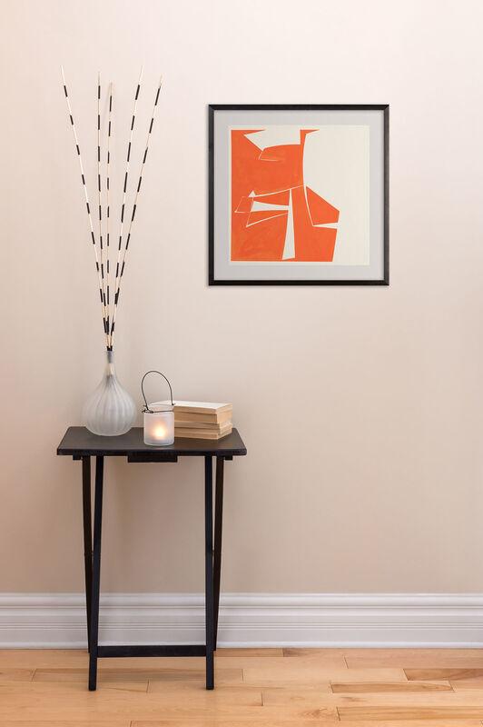 Joanne Freeman, 'Covers 20 Red (Abstract painting)', 2015, Painting, Gouache on handmade Khadi paper, IdeelArt