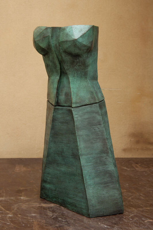 Richard Rhodes, 'Sentinel Green', 2009, Sculpture, Bronze, Cha Cha Gallery