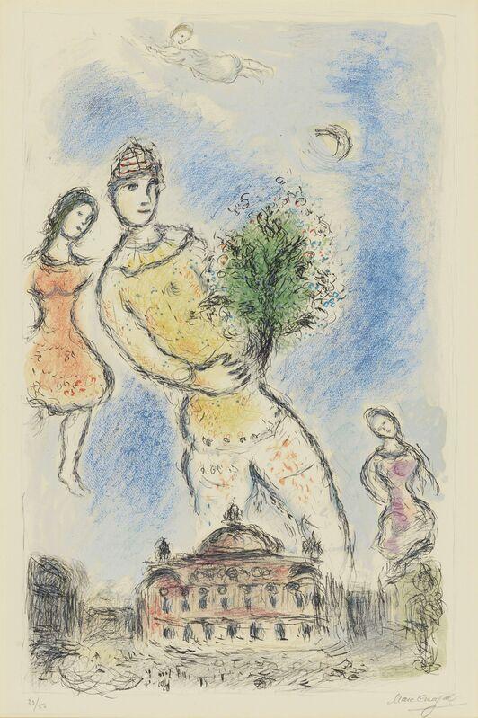 Marc Chagall, 'Dans Ciel de l'Opera', 1980, Print, Lithograph in colors, on Arches paper, Christie's