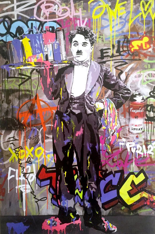 Mr. Brainwash, 'Charlie Chaplin, signed', 2008, Print, Offset Lithograph, The Untitled Space