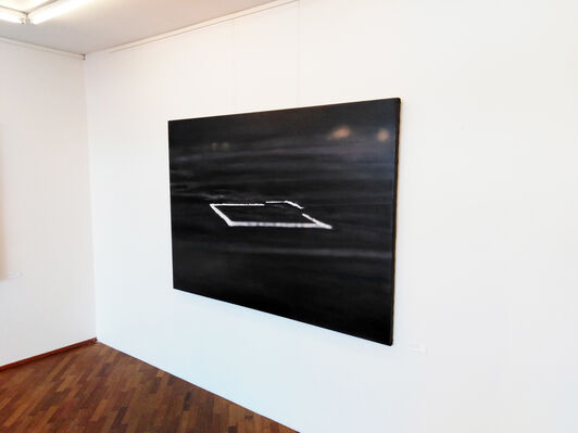 To Fold a Line in Deep Blackness, installation view