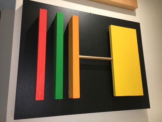Black: Baselitz, de Kooning, Mariscotti, Motherwell, Serra, installation view