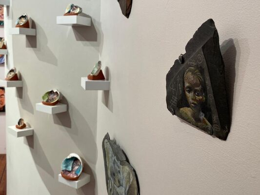 Slate and Bone, installation view