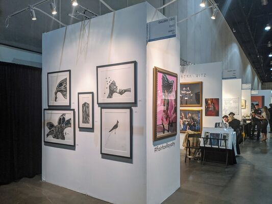 Gallery 1202 at LA Art Show 2020, installation view