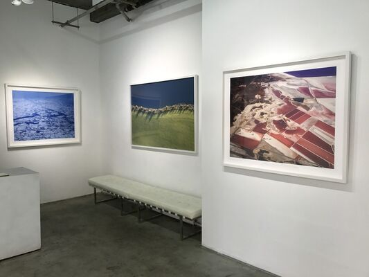 Strata, two person exhibition of aerial photographs, installation view