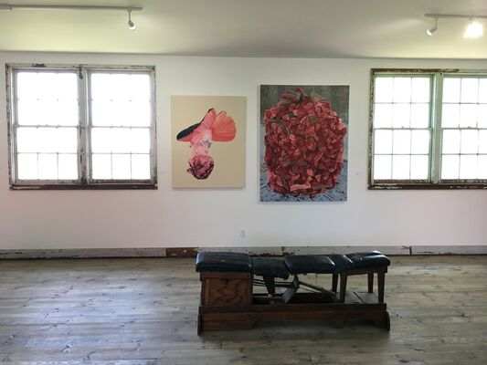 Near and Far Inaugural Group Show, installation view