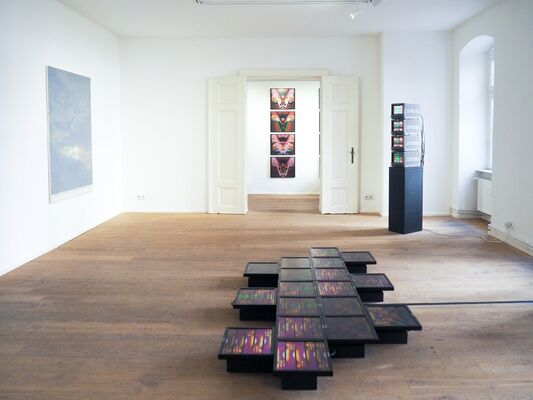 """James Alec Hardy & Martine Poppe """"APHRODITE LOWERS HER MIRROR"""", installation view"""
