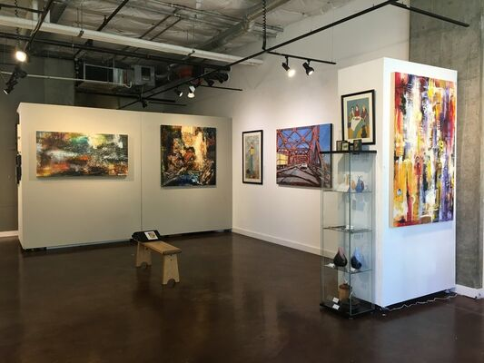 February Group Exhibit, installation view