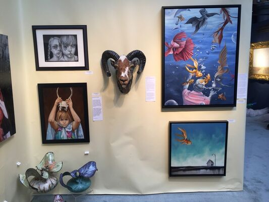 Bowersock Gallery at Boston International Fine Art Show 2016, installation view