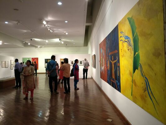 Four Decades: A painter's journey, installation view