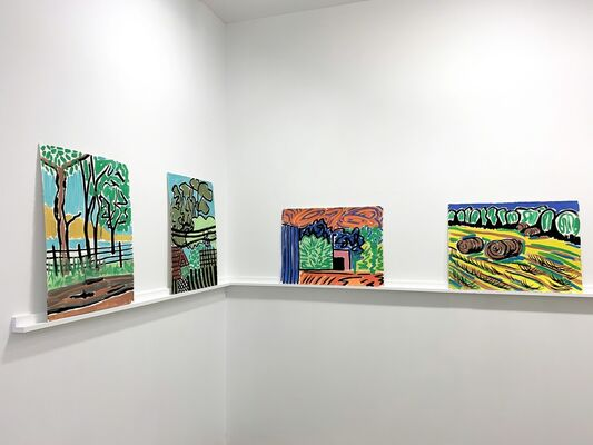 Damon Freed: Paper Landscapes, installation view