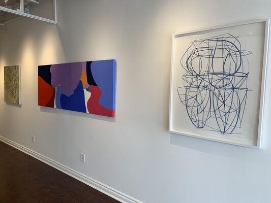 Unfolding Dialogue:  Four Voices, installation view