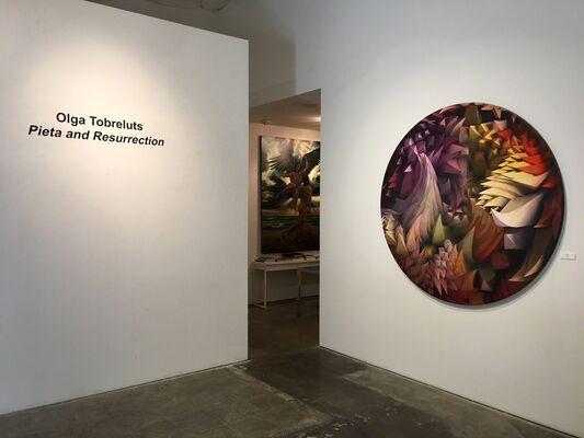 Olga Tobreluts Pieta and Resurrection, installation view