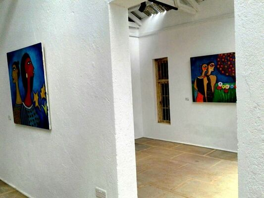 Conversation in Silence: Paintings by James Mbuthia, installation view