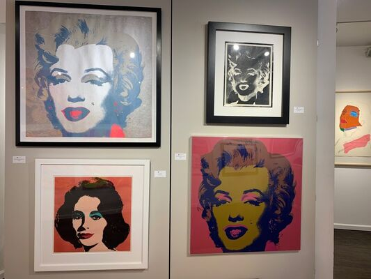 Andy Warhol: Three Decades of Fame, installation view