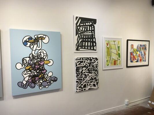 SPACE 776 Open call selected artist group show, installation view