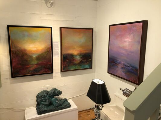 7 Chakras and Mindscapes by Patricia Kaufman, installation view