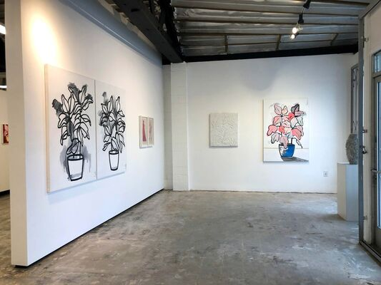 Garden Party...works by Matthew Heller + Tony Brown, installation view
