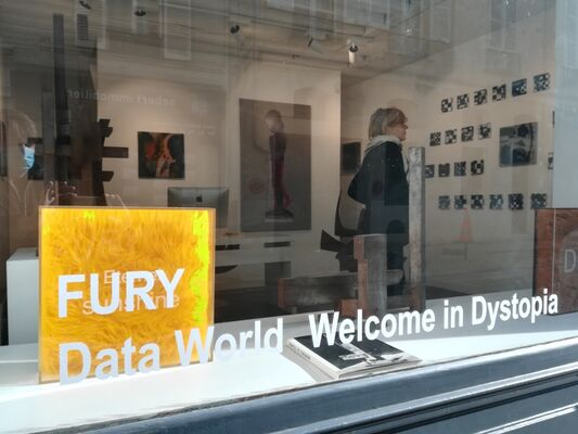 "FURY, ""Data World, Welcome in Dystopia"", installation view"