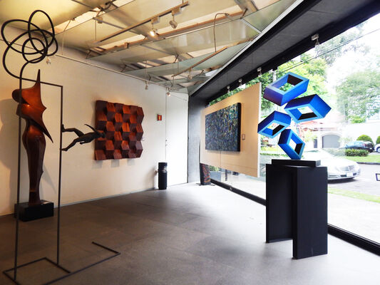 Sculptures that play with your mind, installation view