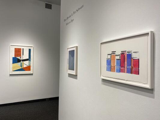 """Peter Brooke & Peri Schwartz """"Works on Paper"""" / Julia von Metzsch Ramos """"Surrounding Kettle Island"""", installation view"""