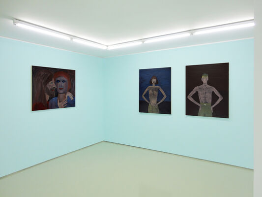 Celia DASKOPOULOU (1936-2006), solo show, Men and Motorcycles, installation view