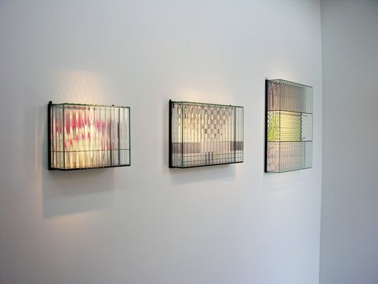 PRE-NET | Optically Kinetic Sculptures by Sydney Cash, installation view