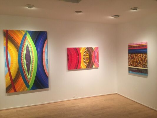 June Edmonds : Scats and Stiches | A.M. Rousseau : Drawing Near, installation view