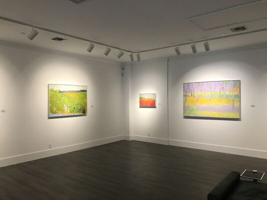Wolf Kahn: Oil on Canvas, installation view