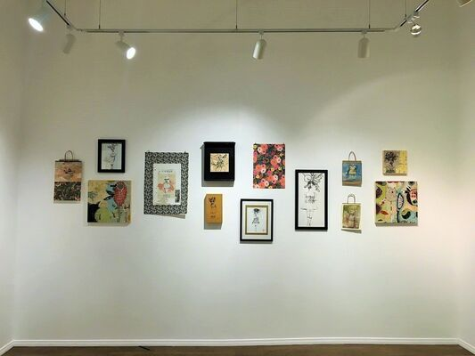 Ink and Tulips, installation view