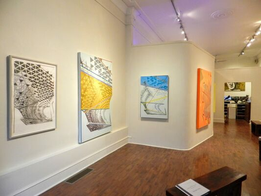 Paul Fabozzi: Curved Locators, New Paintings and Drawings, installation view